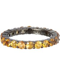 M.c.l - Large Yellow Sapphire Ring - Lyst