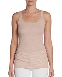 Vince Ribbed Tank Top - Lyst