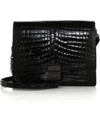 Bottega Veneta Crocodile Shoulder Bag - Lyst