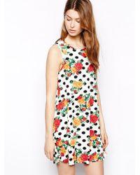 Ax Paris Swing Dress in Spot - Lyst