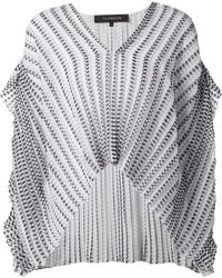 Thakoon Pleated V-Neck Kaftan Top - Lyst
