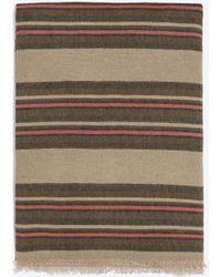 Zara Striped Pattern Scarf - Lyst