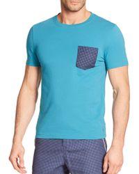 Original Penguin Contrast Pocket Cotton T-Shirt blue - Lyst