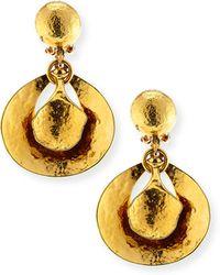 Jose & Maria Barrera | Hammered 24k Gold Drop Earrings | Lyst