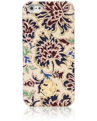 Tory Burch Robinson Printed Hardshell Case For Iphone 5 - Lyst