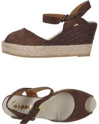 Espadrilles heels wedges wedge sandals - Lyst