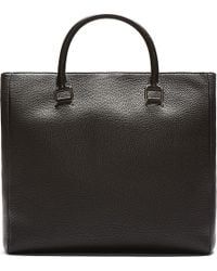 Dolce & Gabbana Black Pebbled Leather Tote Bag - Lyst
