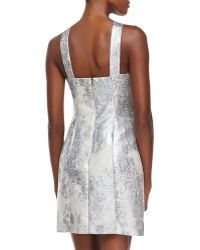 Phoebe - Sleeveless Metallic Dress W/ Beaded Yoke - Lyst