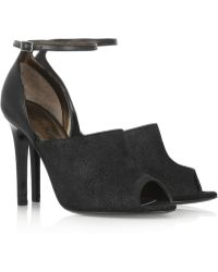 Lanvin Lizardeffect Leather Sandals - Lyst