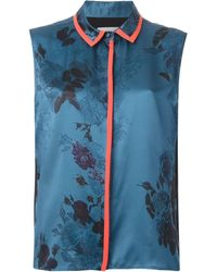 Preen Sleeveless Floral Print Shirt - Lyst