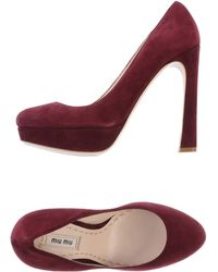 Miu Miu Red Court - Lyst