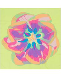 Christopher Kane Yellow Screen Print Tulip Silk Scarf - Lyst