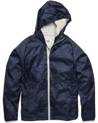 Steven Alan Camo Print Hooded Jacket - Blue