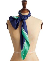 Joules - Clarence Peony Silk Scarf - Lyst
