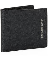 Burberry London Leather Folding Wallet - Lyst