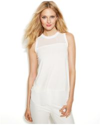 Vince Camuto Sleeveless Illusionpanel Top - Lyst