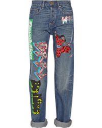 Marc By Marc Jacobs Annie Printed Midrise Boyfriend Jeans - Lyst