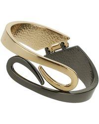 Topshop Double Swirl Clamp Bracelet - Lyst