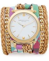 Sara Designs   Printed Wrap Watch - Geo Multi   Lyst