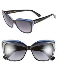 Dior 56Mm Cat Eye Sunglasses - Lyst