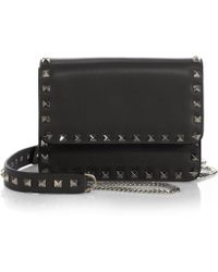 Valentino Studded Leather Crossbody Bag - Lyst