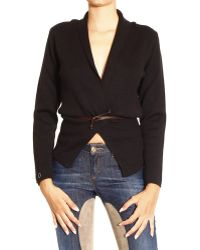 Manila Grace Sweater Cardigan with Belt - Lyst