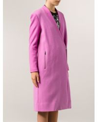 Tibi Foxglove Bouble Long Coat - Lyst