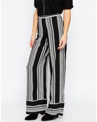 ASOS | Woven Stripe Wide Leg Trouser | Lyst