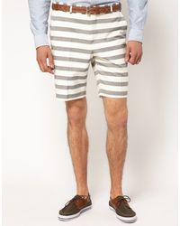 Asos Slim Fit Shorts in Breton Stripe - Lyst