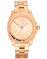 Tommy Hilfiger Maxi Rose Gold Watch - Lyst