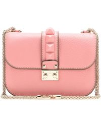 Valentino Glam Lock Leather Shoulder Bag - Lyst