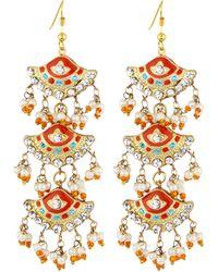 Chamak by Priya Kakkar - Fan-style Tiered Drop Earrings - Lyst