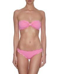 Marysia Swim Antibes Scallop-Edge Bandeau Bikini Top pink - Lyst