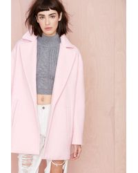 Nasty Gal Dustee Coat - Lyst