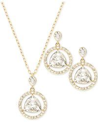 Swarovski Gold-tone Crystal Necklace and Earrings Set - Lyst