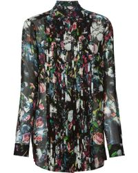 McQ by Alexander McQueen Festival Floral Pleated Shirt - Lyst