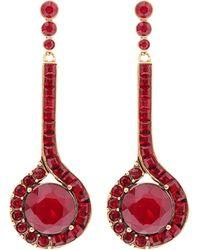 Oscar de la Renta Swarovski Crystal Drop Earrings - Lyst