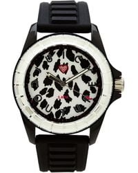 Juicy Couture Black  Leopard Print Watch - Lyst