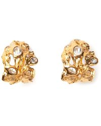 Yves Saint Laurent Vintage Rock Clipon Earrings - Lyst