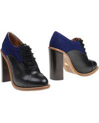 Chloé Black Shoe Boots - Lyst
