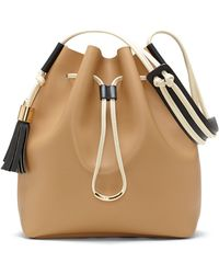 Vince Camuto Lorin Leather Bucket Bag - Lyst