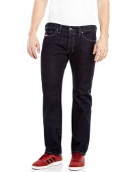 Diesel Dark Wash Safado Slim Straight Jeans - Lyst