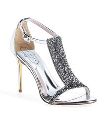 Ted Baker 'Primrose' Crystal Embellished Leather Sandal - Lyst
