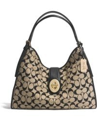 Coach Madison Carlyle Shoulder Bag in Printed Signature Fabric - Lyst