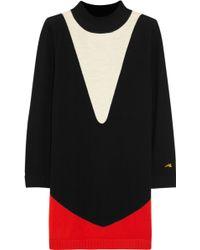 Bella Freud Three Way Colorblock Wool Mini Dress - Lyst