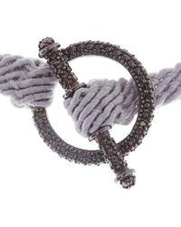 Ruby Kovo - Grey Black Diamond Toggle Bracelet - Lyst