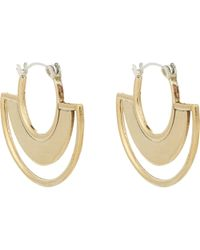 Pamela Love Sunset Drop Earrings gold - Lyst