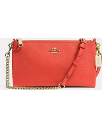 Coach Herald Crossbody In Embossed Textured Leather - Lyst