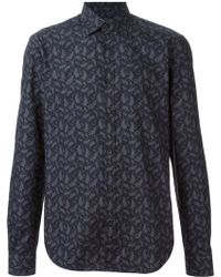Z Zegna Leaves Printed Shirt - Lyst