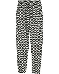 H&M Patterned Jersey Trousers - Lyst